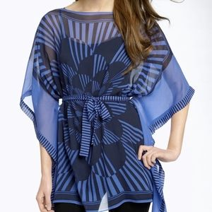 NWT BCBG Printed Tunic Top XS/S